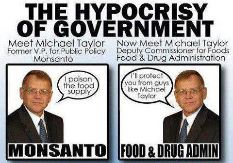 not to mention the countless Monsanto employees who pepper the highest offices of government