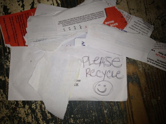 Smiley-faces, stickers, an encouraging note ... we want to be classy about this, and be sure the workers opening the mail don't get insulted. Gift them with a smile, even if all you can muster is a sarcastic one.